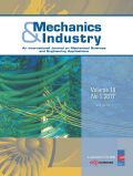 Mechanics & Industry Cover page